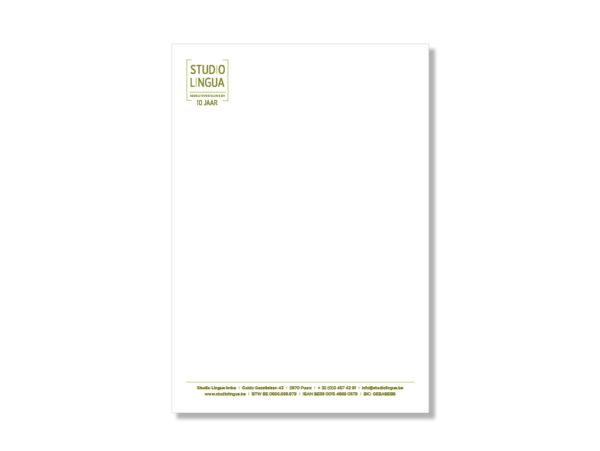 Briefpapier Studio Lingua door Annabel Graphics