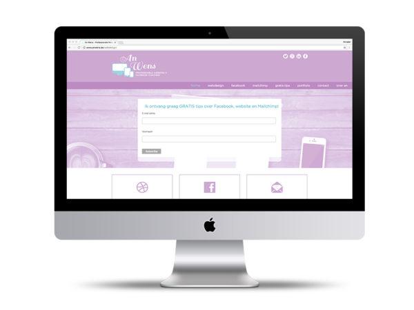 Website An Wens door Annabel Graphics