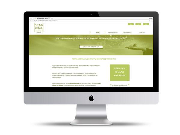 Website Studio Lingua door Annabel Bruneel Graphics